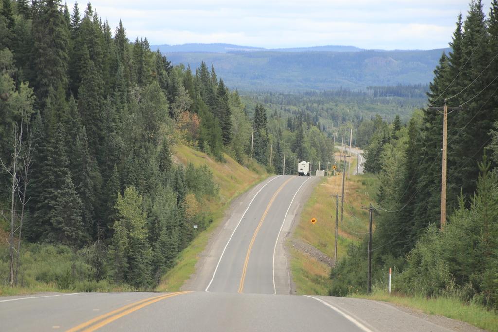 Yellowhead Highway von Prince Rupert nach Prince Georg