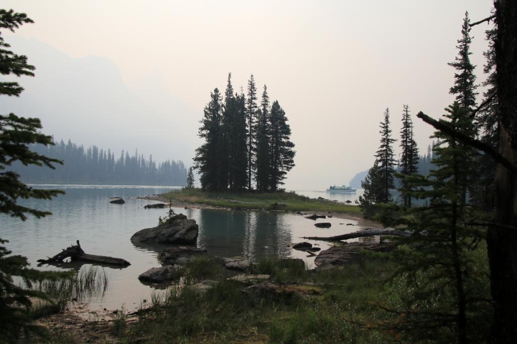 Maligne Lake und Spirit Island